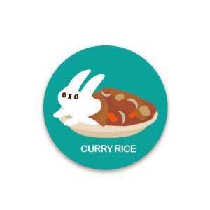 ダットフード缶バッジ(カレー)